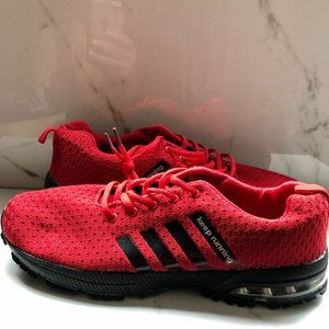 Brand new red running shoes